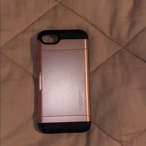 Accessories - Pink Card Holder IPhone 8 Case